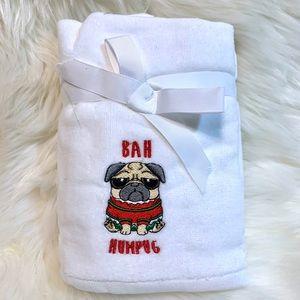 Pug Bah Humpug Embellished 2pk Hand Towels